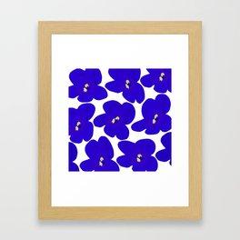 Blue Retro Flowers #decor #society6 #buyart Gerahmter Kunstdruck