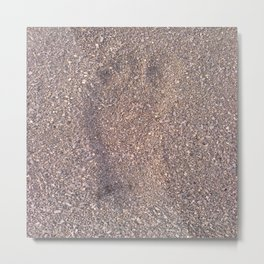 trace in the sand Metal Print