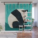 The Panda and The Butterfly - turquoise version by oliverlake