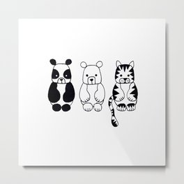 Little Animals Metal Print