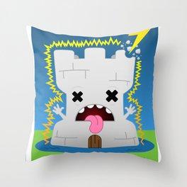 The Chibi Tarot - XVI The Tower Throw Pillow