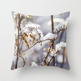 Frozen garden Throw Pillow