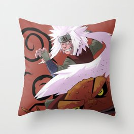 Ero-Sennin! - Jiraya and Gamakichi Throw Pillow