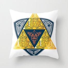symbol computer game sign trinity Throw Pillow