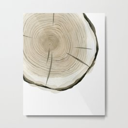 Part of tree slice Metal Print