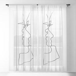 Whisper - One Line Art Sheer Curtain