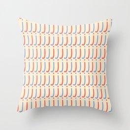 Hand Written Small Letter J Pattern Throw Pillow