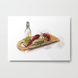 Cooking moments. Olive inspiration. Metal Print
