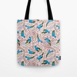 Birds in Spring Tote Bag