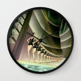 'We Came Here to Shine' - Billy Rose's Acquacade Art Deco 1920's Theatrical Portrait Wall Clock