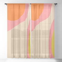 abstract composition modern blush pink Sheer Curtain