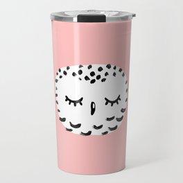 Snowy Owl Portrait Travel Mug