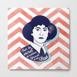 We're All A Little Mad - Agatha Christie Metal Print