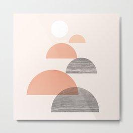 Abstraction_SUN_Mountains_Landscape_Pastel_Minimalism_002 Metal Print