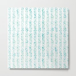 Arrow up aquatica pattern Metal Print