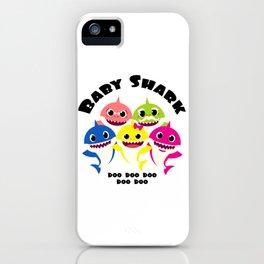 Baby Shark Family design in Adult & Kid Sizes Doo Doo iPhone Case