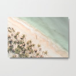 Tropical Beach Aerial View Metal Print