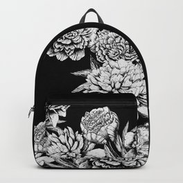 FLOWERS IN BLACK AND WHITE Backpack