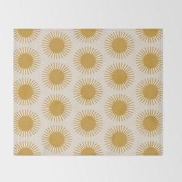 Golden Sun Pattern Throw Blanket