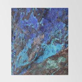Malachite Mineral Stone rustic decor Throw Blanket