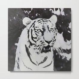 Urban Pop Art Tiger Metal Print