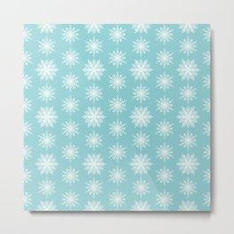 Frosty Snowflakes Metal Print