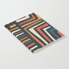Square puzzle folk pattern Notebook