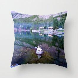 Shangrila Lake Throw Pillow