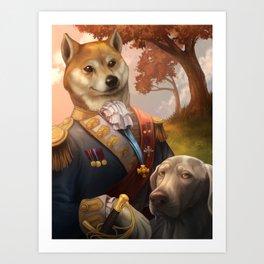 Royal Shiba Dog Portrait Art Print