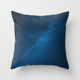 Abstract #5 - Radiation (Blue) Throw Pillow