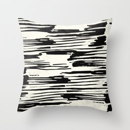 Rough Brush on Ivory Throw Pillow