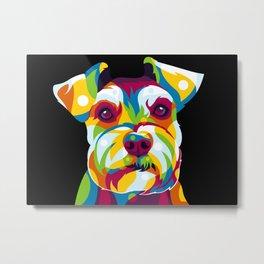 Shih Tzu Dog Portrait Metal Print