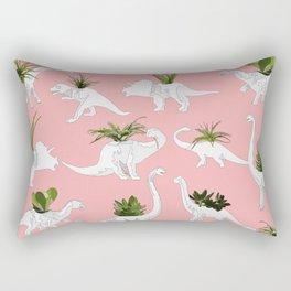 Dinosaurs & Succulents Rectangular Pillow