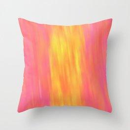 Solarium (Pink and Yellow) Throw Pillow
