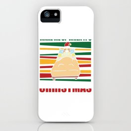 Wake me up When it's christmas iPhone Case