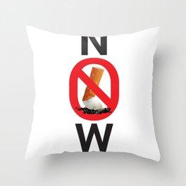 Stop smoking now - Great American Smokeout Throw Pillow