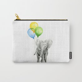 Elephant with Three Balloons Carry-All Pouch