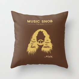 The Deeper the ROOTS — Music Snob Tip #073.5 Throw Pillow