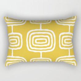 Mid Century Modern Atomic Rings Pattern 771 Mustard Yellow Rectangular Pillow