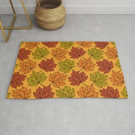 Maple Leaves Pattern Rug
