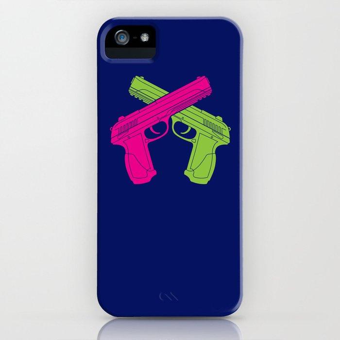 Crossed Pistols iPhone Case