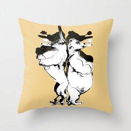 The Bull & Bear Throw Pillow