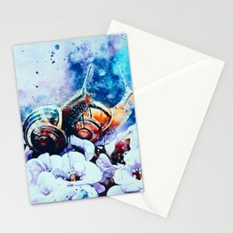 two snails make love wshb Stationery Cards