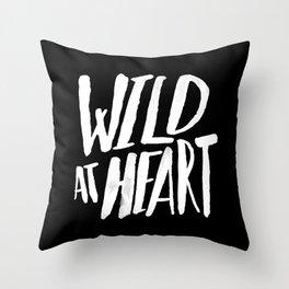 Wild at Heart x Black and White Throw Pillow