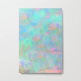 Rainbow Opal Metal Print