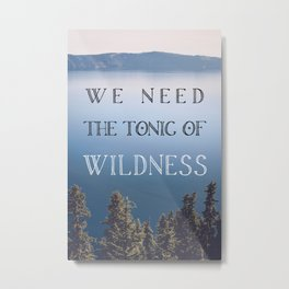The Tonic of Wildness Metal Print