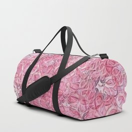 Flamingo Pink Chalk Blooms Duffle Bag