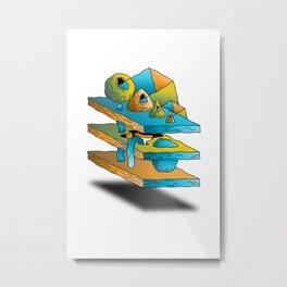 Stacking Metal Print