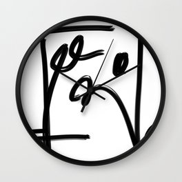 Springs in Spring Black Line Abstract  Wall Clock
