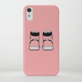 Rust Pink Print iPhone Case